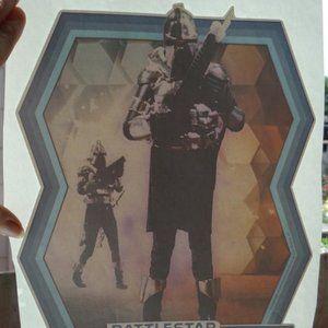 Vintage Battlestar Galactica Cylon Iron-On Transfe